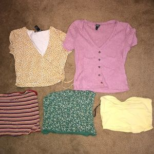 LOT of 5 shirts from various brands